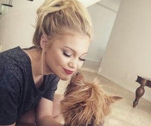 olivia holt, dog, and girl image