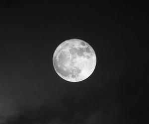 moon, black, and dark image
