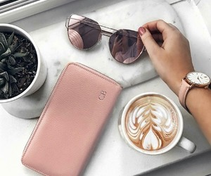 chic, coffee, and marble image
