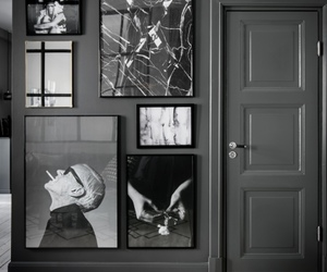 interior, black and white, and home image