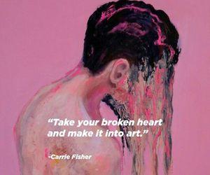 art, pink, and broken image