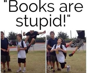 book, funny, and stupid image