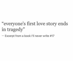 first love, love story, and quote image