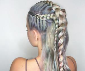braid, hair, and love image