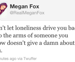 quote, megan fox, and twitter image
