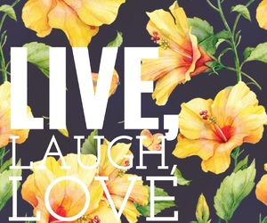 black, yellow, and live laugh love image