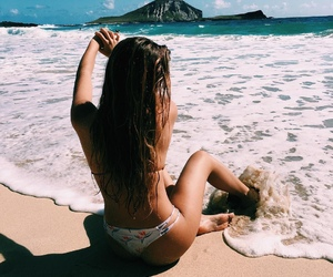 girl, beach, and fitness image