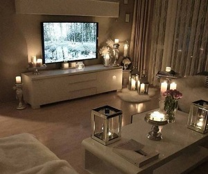 home, candles, and decor image