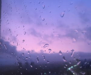 aesthetic, rain, and violet image