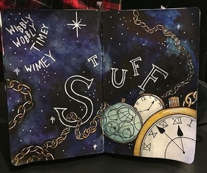 art, doctor who, and drawing image