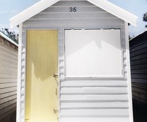 beach, brighton, and beach hut image
