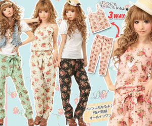casual, gyaru, and playsuit image