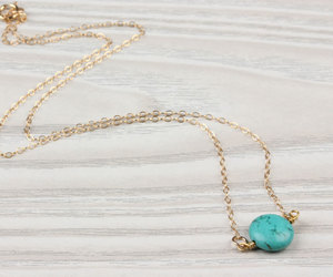 bridal necklace, etsy, and gold turquoise image