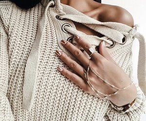 accessories, chic, and sweater image