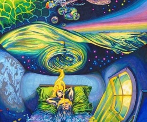 Dream, drugs, and psychedelic image