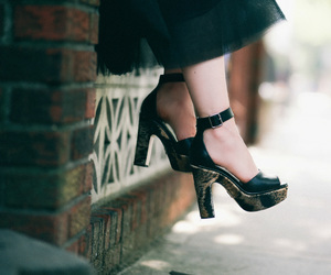 black, fashion, and high heels image