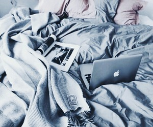 bed, cool, and pink image