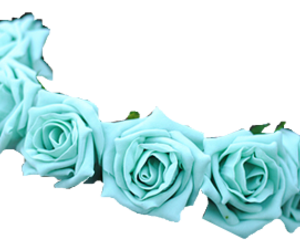 blue, flower crown, and png image