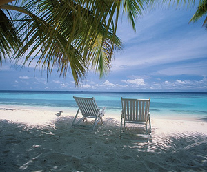 beach, chairs, and sand image