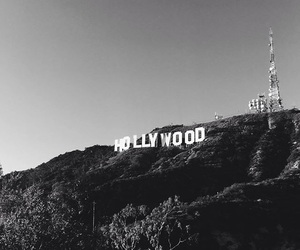 b&w, hollywood sign, and zoelaz image