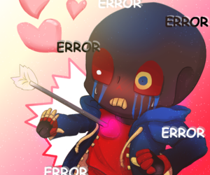 undertale, error sans, and errorink image