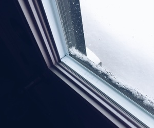 cold, hiver, and window image