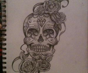 day of the dead, dia de los muertos, and drawing image