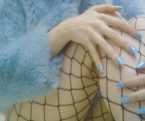 blue, nails, and aesthetic image