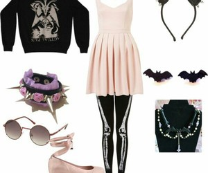 pastel goth, pastel, and outfit image