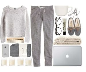 outfit, cozy, and style image