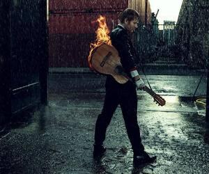 ed sheeran, singer, and rain image