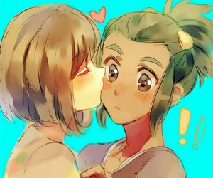 fan art, moon, and anime couple image