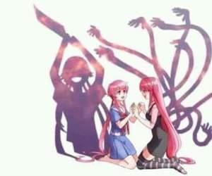 mirai nikki, elfen lied, and Lucy image