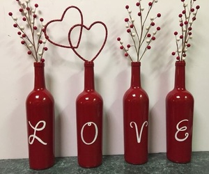 bottles, decoration, and heart image