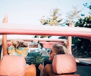 summer, friends, and car image