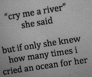quote, cry, and love image