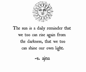 quotes, life, and sun image