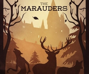 harry potter, marauders, and hogwarts image