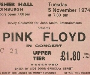 Pink Floyd, concert, and ticket image
