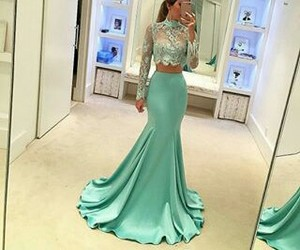 dress, beauty, and green image