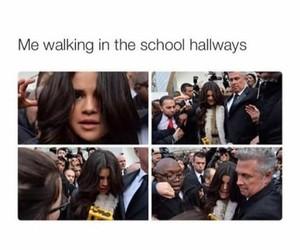 funny, school, and selena gomez image