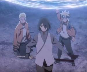 anime, sasuke uchiha, and naruto uzumaki image