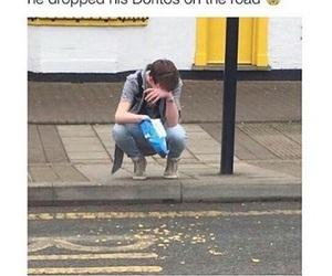 funny, doritos, and sad image