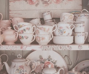 vintage, cup, and pink image