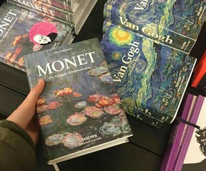book, monet, and van gogh image