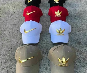 nike, adidas, and hat image