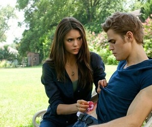 the vampire diaries, Nina Dobrev, and stefan salvatore image
