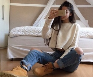 boots, style, and timberlands image