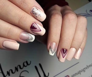 manicure, marble, and nail image