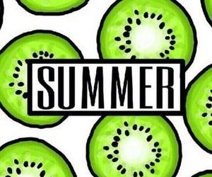 summer, fruit, and kiwi image